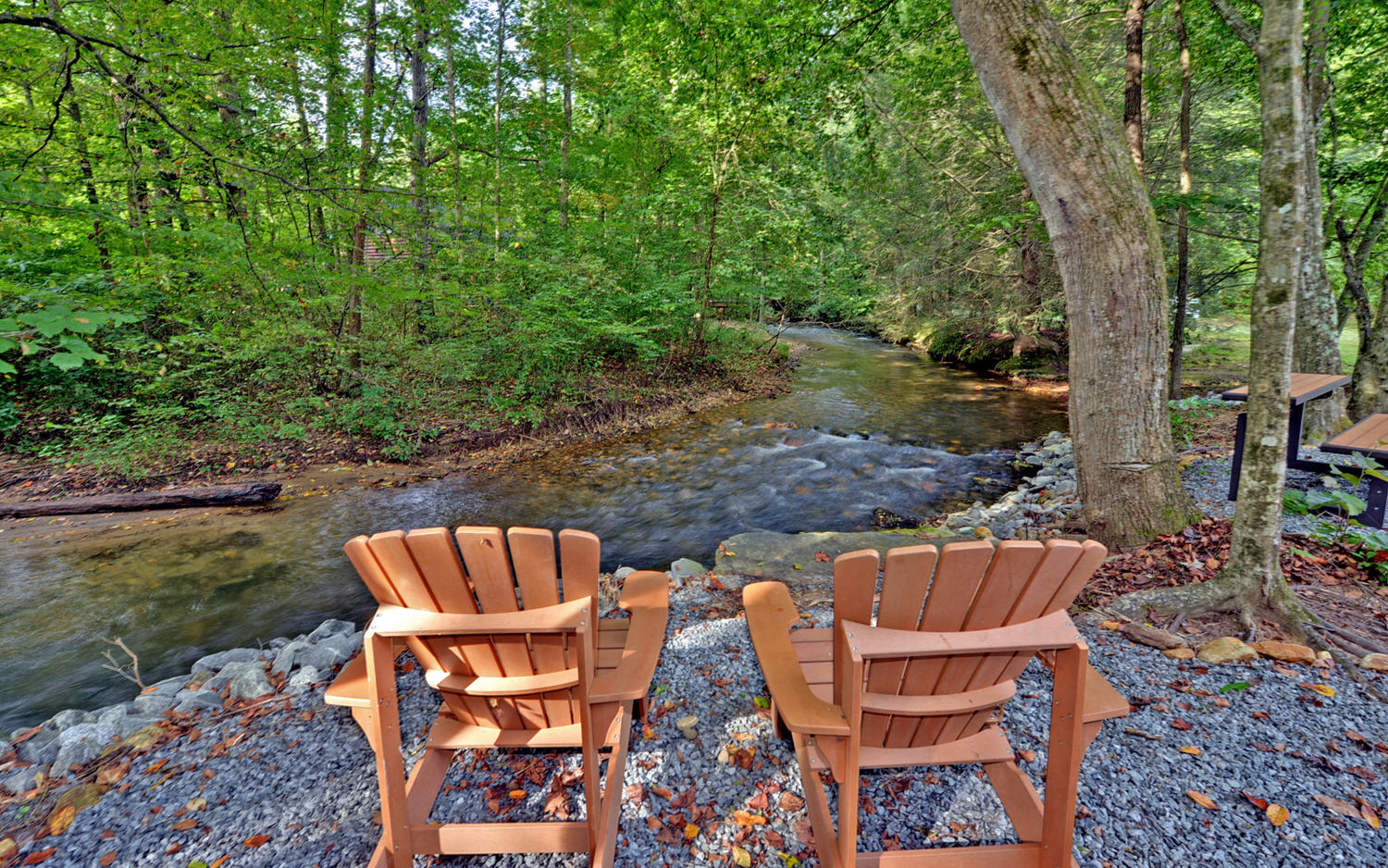Creekfront for Large cabin rentals north georgia