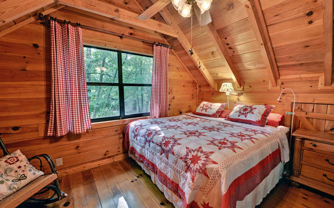 Trout Run Cabin Blue Ridge GA-small-012-Loft Bedroom-666x417-72dpi