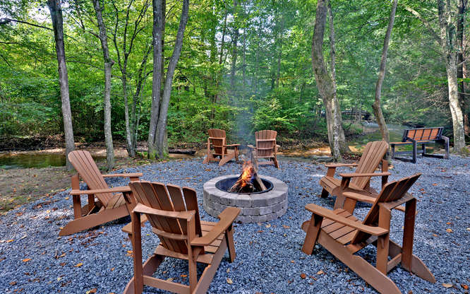Trout Run Cabin Blue Ridge GA-small-018-Fire Pit-666x417-72dpi